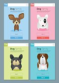 Animal banner with Dogs for web design 5