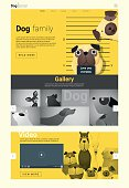 Animal website template  banner and infographic with Dog 4