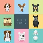 Set of dog family 2