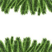 Christmas tree frame vector illustration