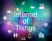 various smart devices and mesh network, internet of things