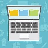 Laptop show Folder