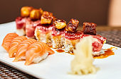 Sushi with selective focus
