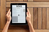 Reading news with tablet pc