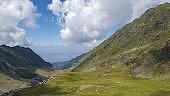 Transfagarasan pass, in Carpathian mountains