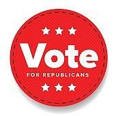 Vote for Republicans - election badge