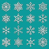 Snowflakes set. Vector illustration