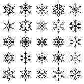 Snowflakes isolated on white. Vector illustration
