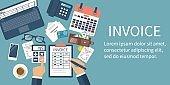 Invoice concept vector