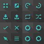 Vector Flat Icon Set - Arrow