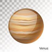 Venus planet 3d vector illustration
