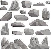 Rocks and stones vector illustration