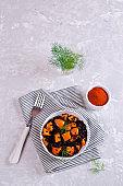 Black rice with pumpkin