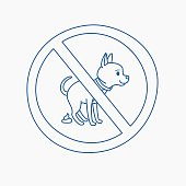 No dog pooping doodle sign