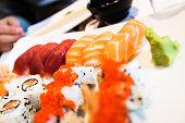 Maki sushi variety