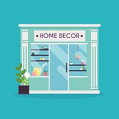 Home decor shop facade. Decor shop.
