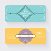 Gift voucher template. Gift certificate. Background design gift