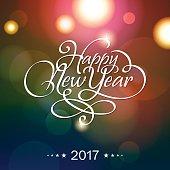 Happy New Year Calligraphy 2017