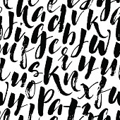 Seamless pattern with hand drawn letters.