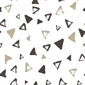 Seamless pattern with hand drawing triangles.