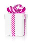 Christmas gift box. Isolated