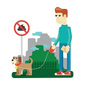 rules dog walking in a city park