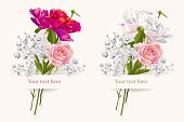 Set of two summer bouquets