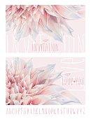 Dahlia greeting cards