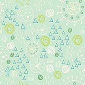 Scandinavian style abstract seamless vector pattern.