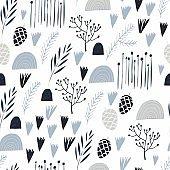 Winter Holidays seamless vector pattern.