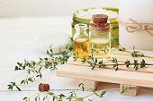 Thyme Herb Aromatherapy treatment. Botanic Spa.