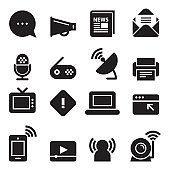 Communication Icons [Black Edition]