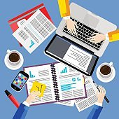 Modern business office and workspace background