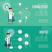 Dental office horizontal website templates