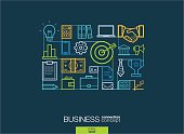Modern linear style vector concept. Business