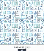 Business strategy wallpaper. Marketing seamless pattern