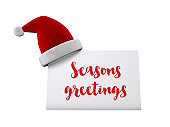 Santa hat festive label