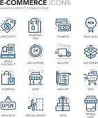 Blue Line E-Commerce Icons