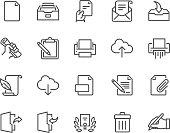 Line Document Icons