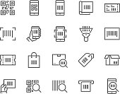 Line QR Code Icons
