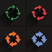 Color arrow reload, refresh, rotation, repeat icon