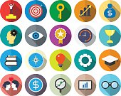 business and success flat icon