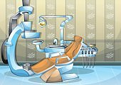 cartoon vector illustration interior surgery operation room with separated layers