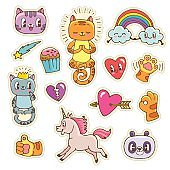 Doodle stickers collection