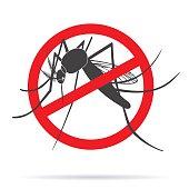 Zika virus graphic design elements.