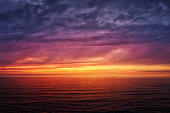 seascape with red sunset