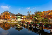 Gyeongbokgung Palace in autumn at Seoul,South Korea.
