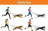 Canicross Outdoor Training with Dogs.