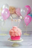 First Birthday Giant Pink Cake