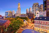 Downtown Boston Cityscape